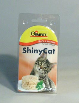 Konzerva Gimpet kočka  ShinyCat kuře/krab 2x70g