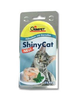 Konzerva Gimpet kočka  ShinyCat kuře/krevety 2x70g