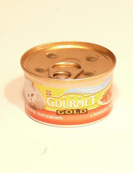 Konzerva Gourmet Gold  kočka duš.hov.a kuře 85g
