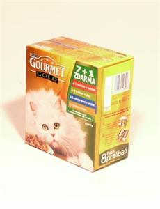 Konzerva Gourmet Gold  kočka gril.k.Mix Multi 7x +1x ZDARMA 85g