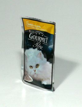 Konzerva Gourmet Perle kapsa kočka kuře 85g