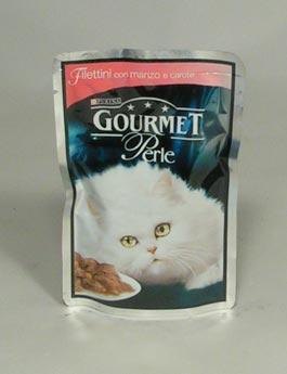 Konzerva Gourmet Perle kapsa kočka s hov. a mrkví 85g