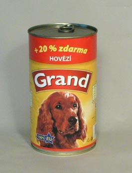 Konzerva Grand  pes hovězí 1150g