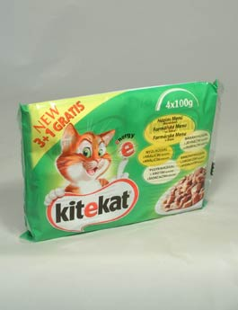 Konzerva Kitekat kapsa Farmářské menu 4x100g