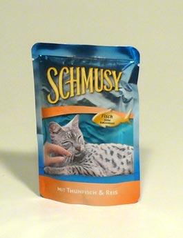 Konzerva Schmusy Cat kapsa Fish tuňák+rýže 100g