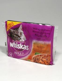 Konzerva Whiskas kapsa Menu z 4 druhů masa 4x100g