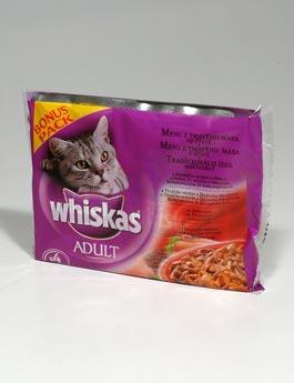 Konzerva Whiskas kapsa Menu z tm. masa ve šťavě 4x100g