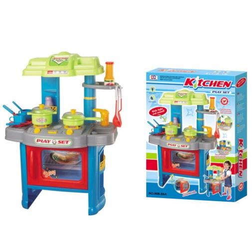Detská kuchynka G21 s príslušenstvom modrá